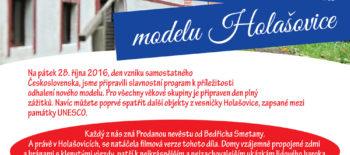 28/10 Slavnostní odhalení modelu Holašovice