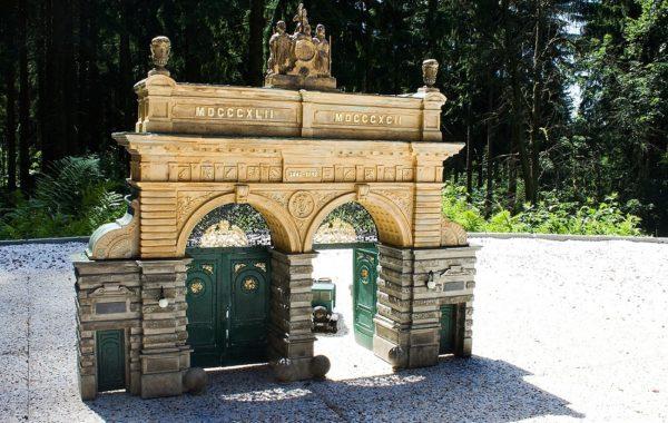 Jubilee gate of Pilsner Urquell